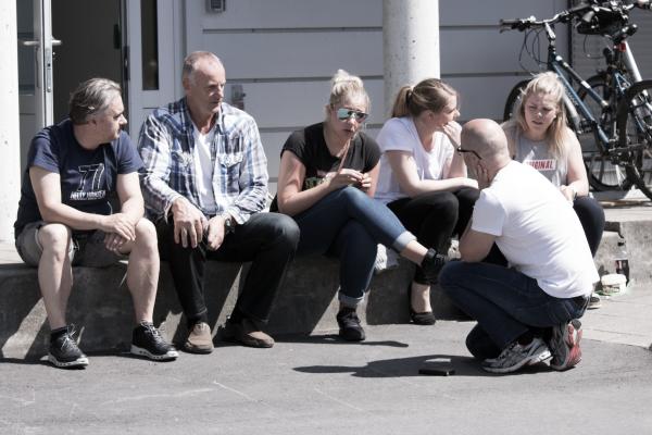 Deltagere på TMA-dagene i en pause